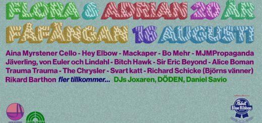 Flora & Adrian 20 år - Festival line-up