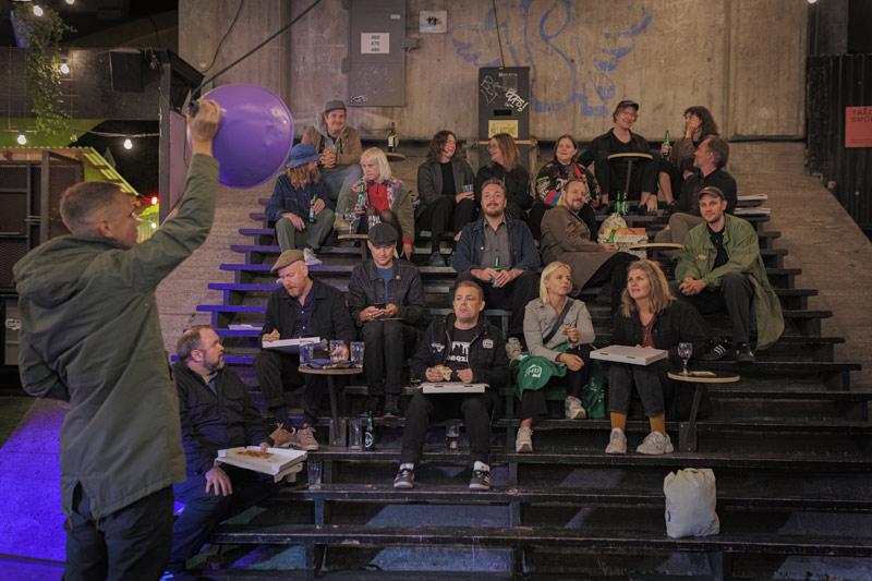 Nattmusik release party at Trädgården in Stockholm. Solulf, Rickard Jäverling, Mira Eklund, Henrik von Euler, Elin Franzén, Andreas Tilliander, Clora, Lisa Ulfves, Kristoffer Ulfves, Thomas Bodén